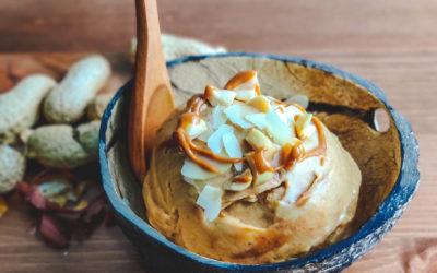 Helado de crema de cacahuete