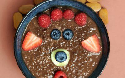 Porridge al cacao.